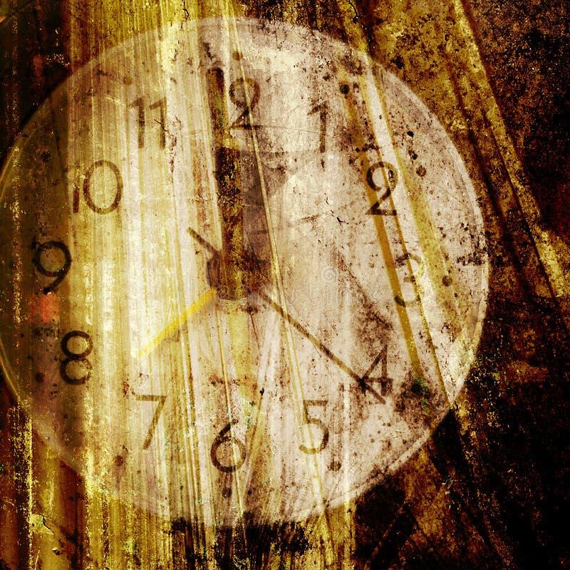 gammal klockaframsida royaltyfri bild