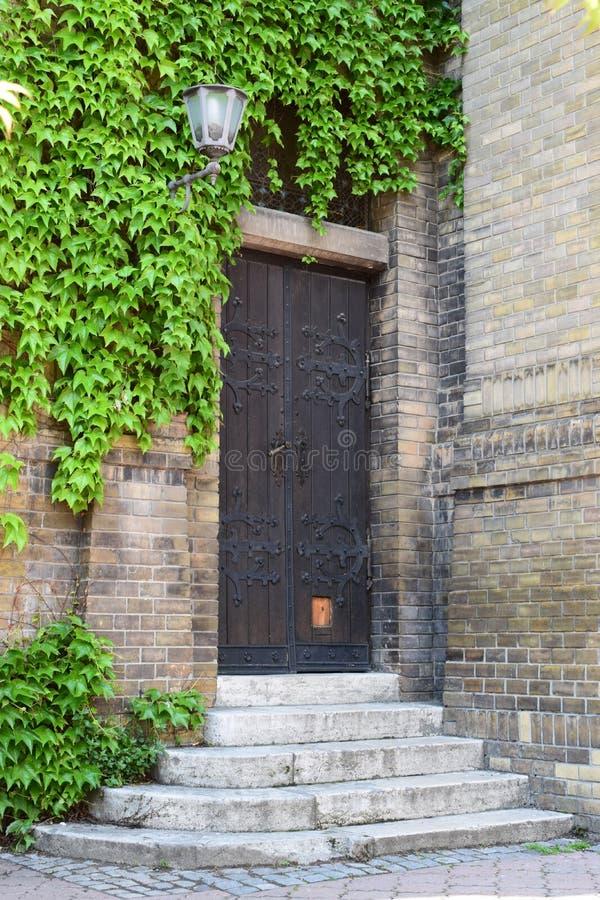 Gammal kraftig dörr - Novi Sad fotografering för bildbyråer