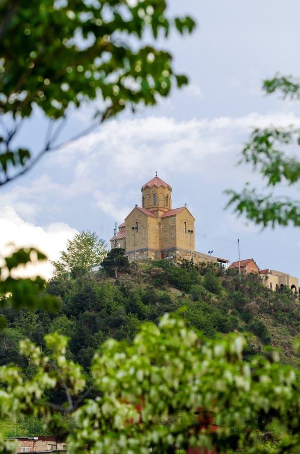 Gammal kristen ortodox kyrka i det Georgia landet royaltyfria foton