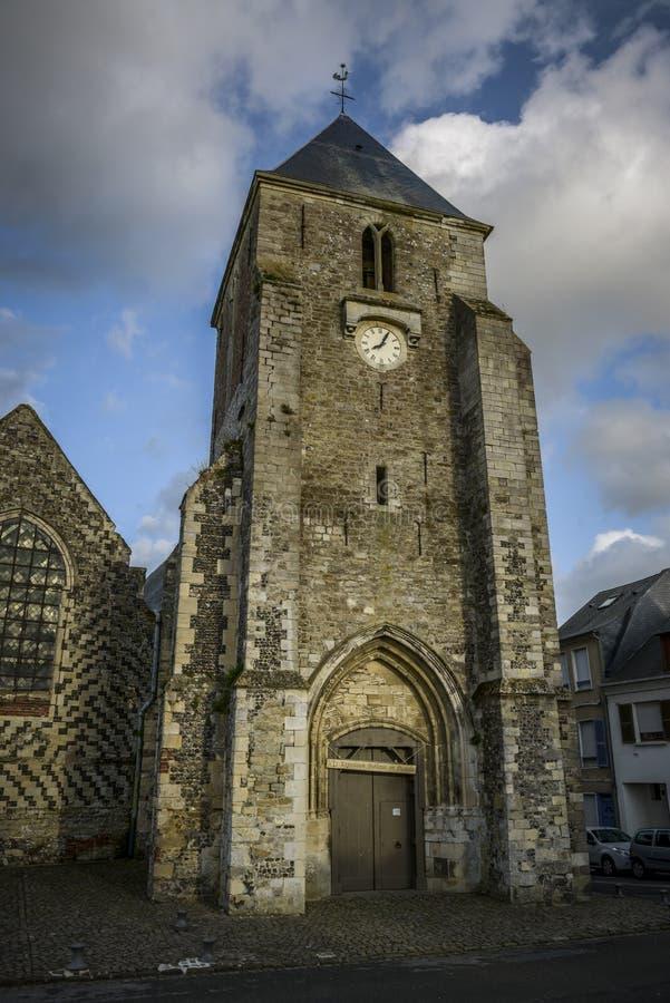 Gammal kyrka av helgonvallerysur somme Frankrike royaltyfri foto