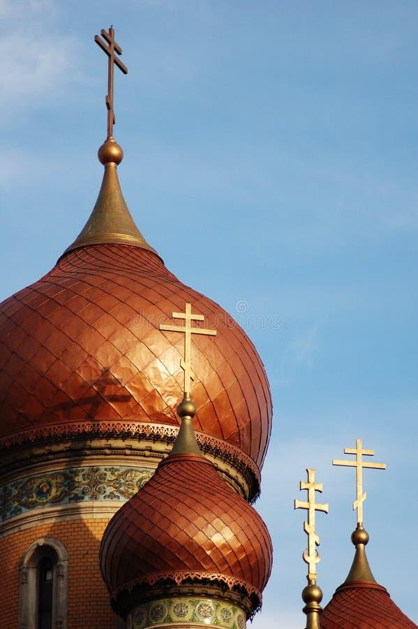 gammal kyrklig guld för croix 5 arkivbilder