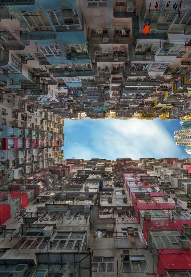 Gammal lägenhet i Hong Kong arkivfoton