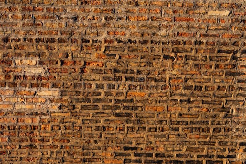 Gammal lantlig bakgrund för tegelstenvägg fotografering för bildbyråer