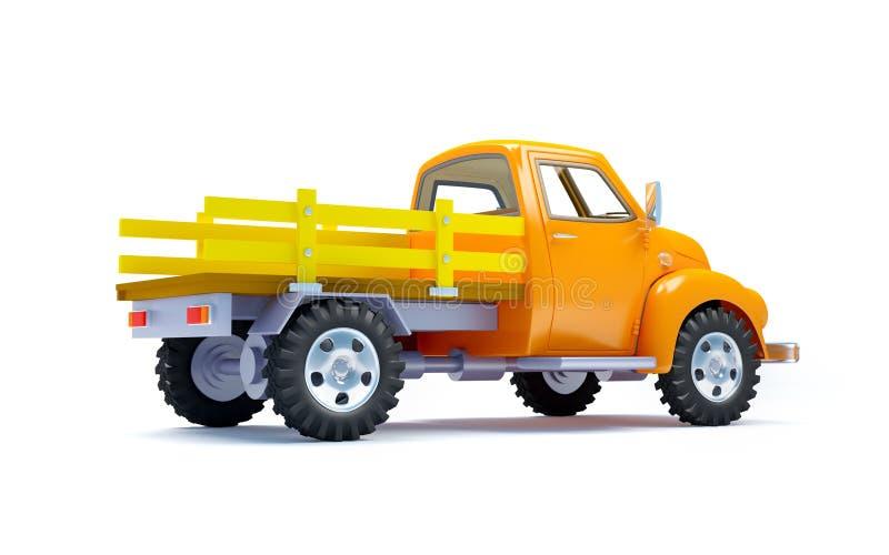 Gammal lastbil tillbaka stock illustrationer