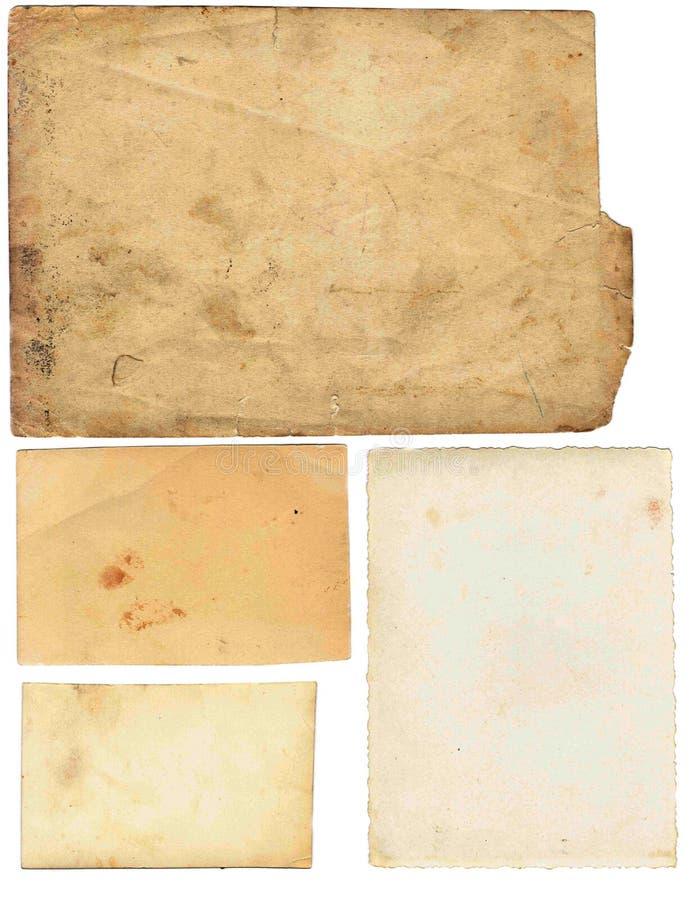 Gammal legitimationshandlingaruppsättning som isoleras på vit bakgrund med den snabba banan royaltyfria foton