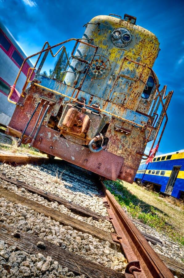 gammal lokomotiv fotografering för bildbyråer