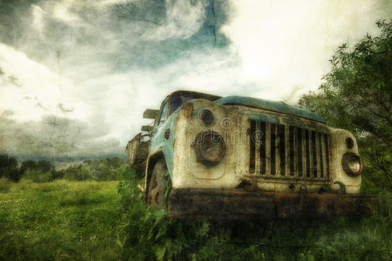 gammal lorry royaltyfri foto