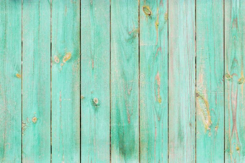 Gammal målad wood vägg - textur arkivfoto