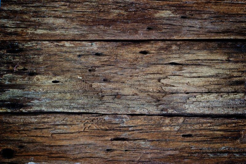 Gammal mörk wood rutten textur arkivfoton