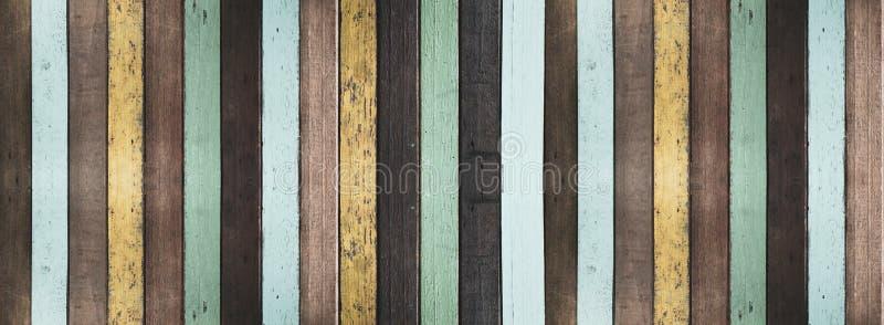 Gammal m?lad tr?bakgrund och textur arkivbild