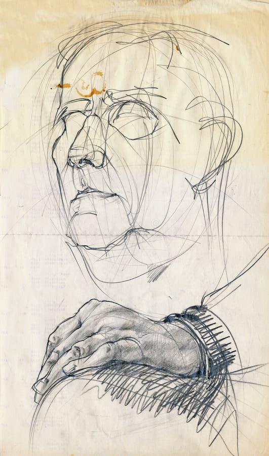 gammal man vektor illustrationer