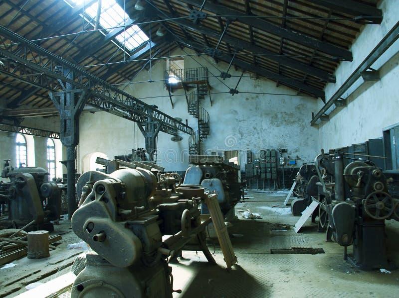 Gammal manufacture arkivbild