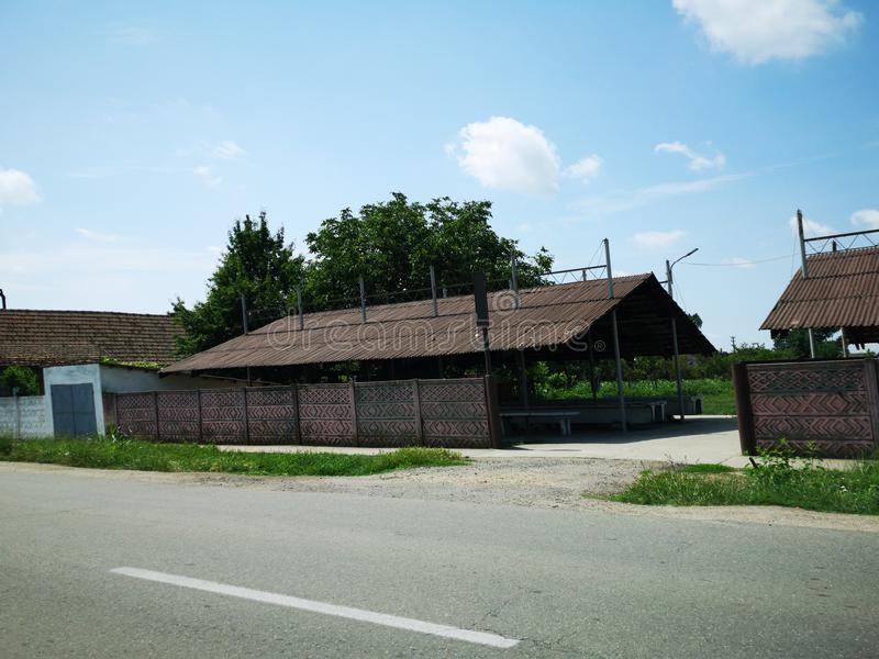 Gammal marknad från öst - europeisk by royaltyfri bild