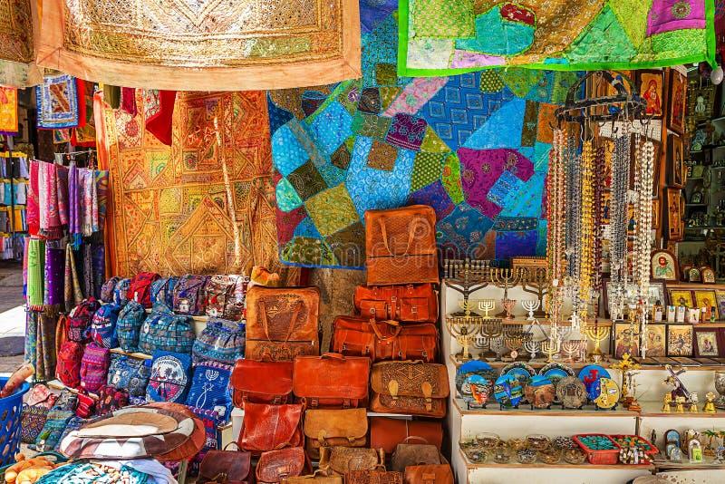 Gammal marknad i Jerusalem, Israel royaltyfria bilder