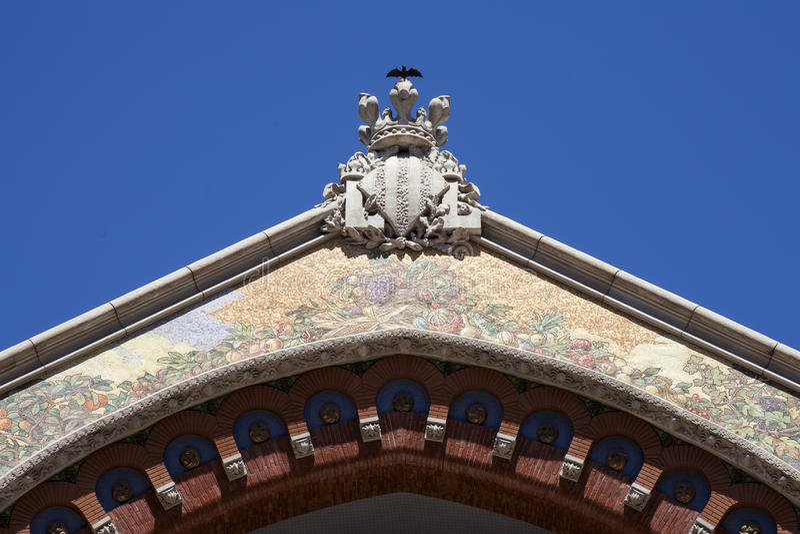 Gammal marknadsinre av Valencia royaltyfri foto