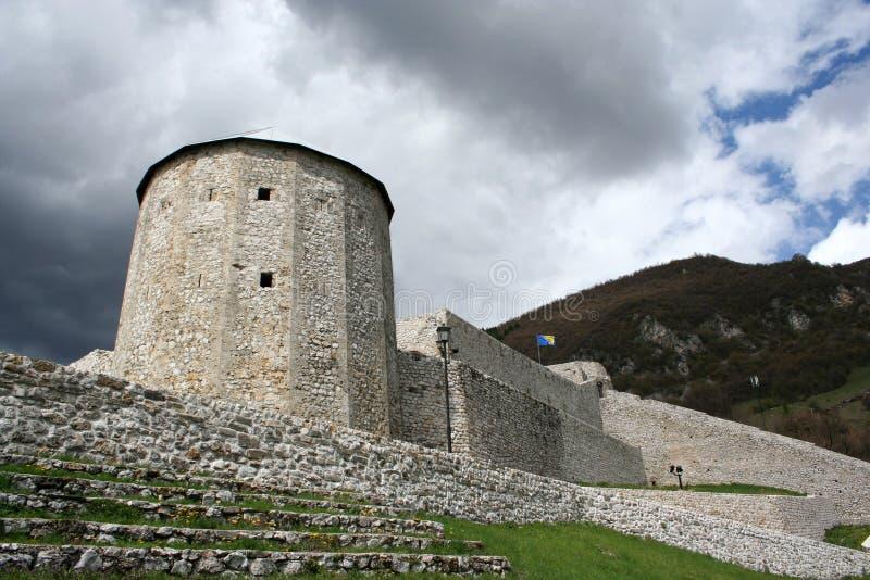 Gammal medeltida town Travnik arkivfoton