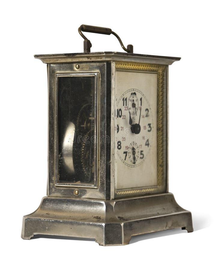 gammal metall clock1 arkivfoto