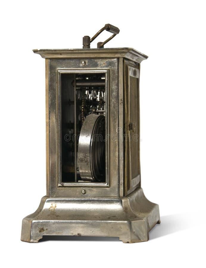 gammal metall clock3 arkivbilder