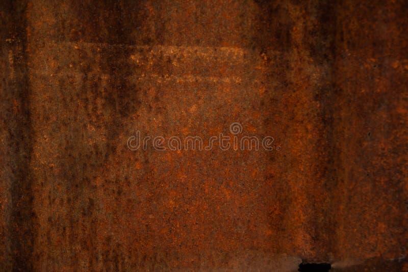 Gammal metalltextur - kopparnärbild Bakgrund Järnyttersidarost royaltyfria foton