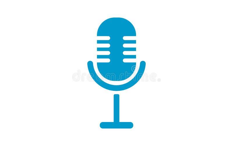 Gammal Mikrofonsymbol Mikrofonkontur Vektor Illustrationer ...