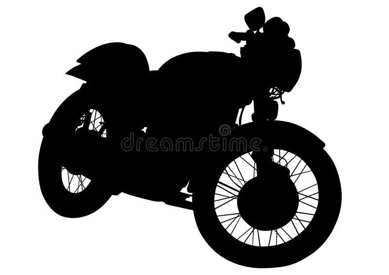 Gammal motorcykel en royaltyfri illustrationer