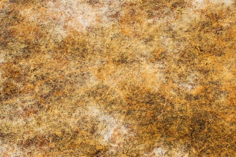 Gammal nedfläckad pappers- texturbakgrund royaltyfri fotografi