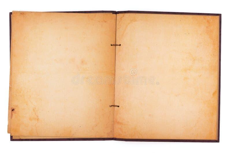 Gammal nedfläckad urklippsbok royaltyfri bild
