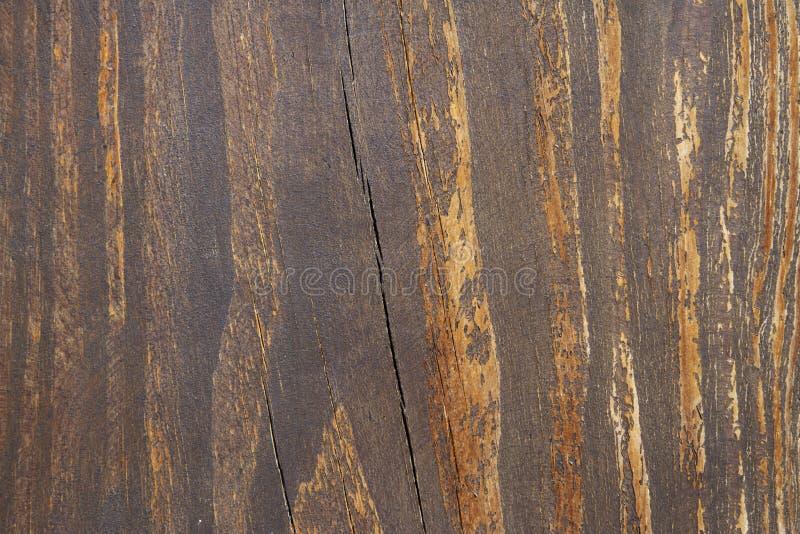 Gammal och sprucken trätextur arkivbild