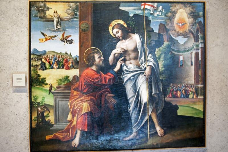 Gammal olje- målning royaltyfri bild