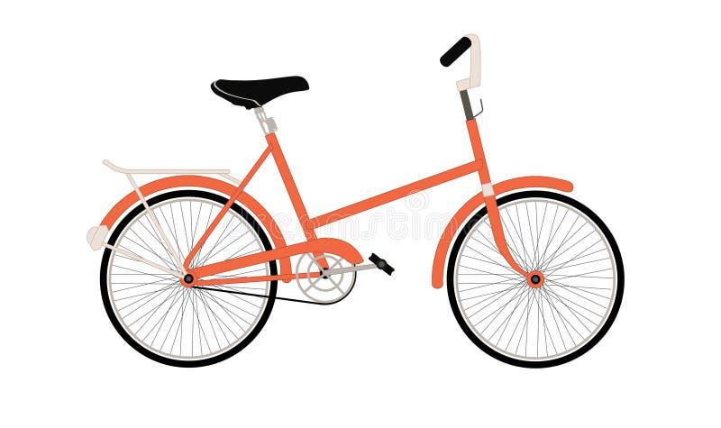Gammal orange cykel fotografering för bildbyråer