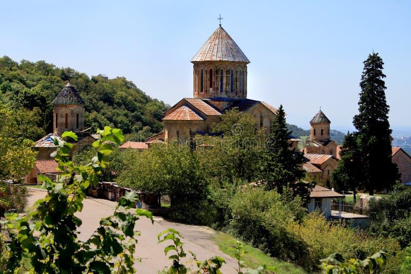 Gammal ortodox Gelati kloster arkivbilder