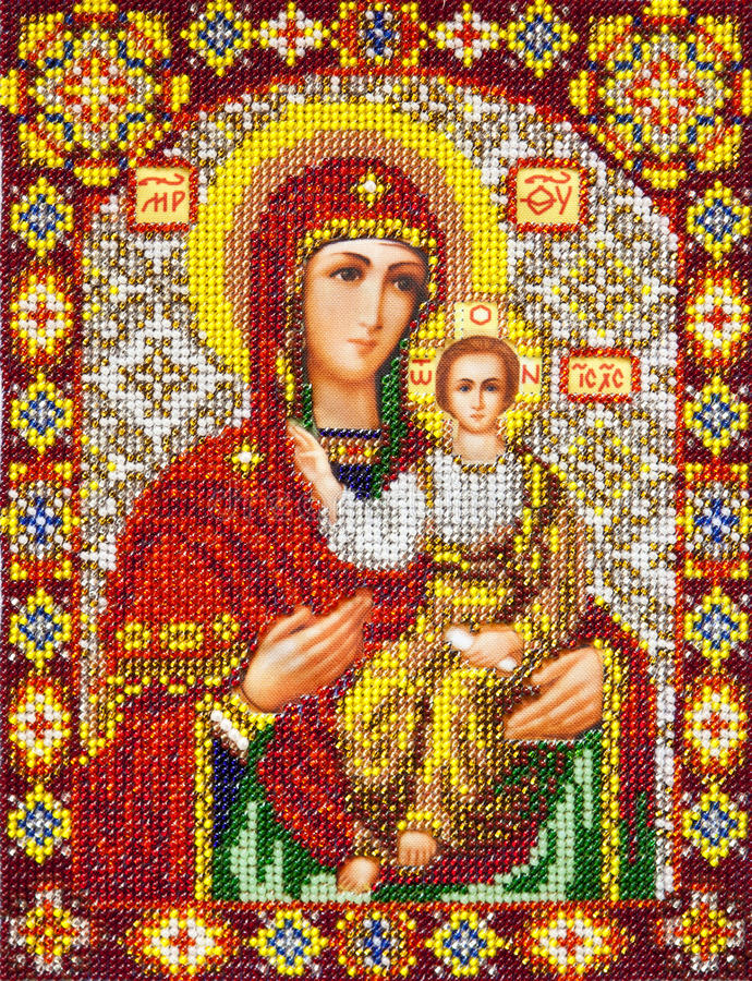 Gammal ortodox symbol arkivfoto