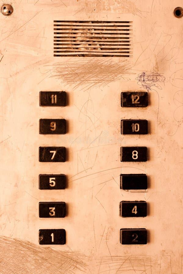 gammal panel för hiss vektor illustrationer
