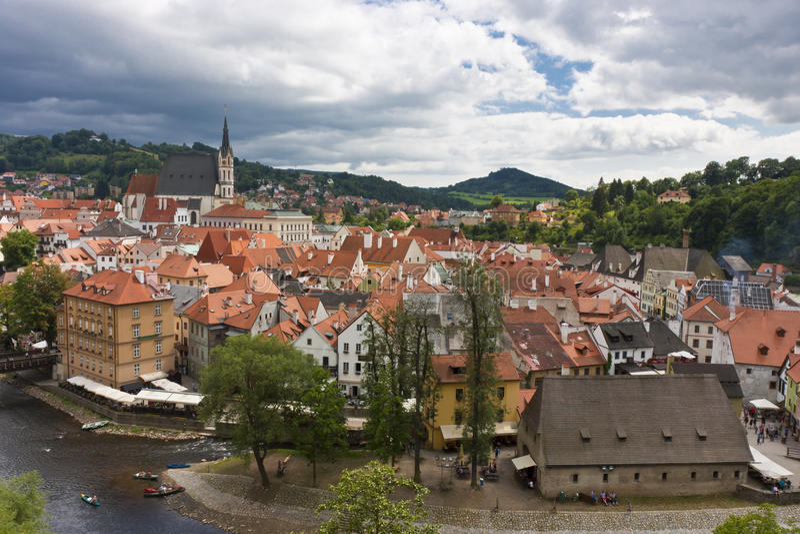 gammal panorama för stad royaltyfria bilder