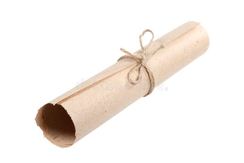 gammal paper scroll royaltyfri foto