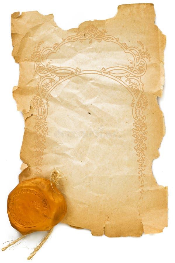 gammal paper stämpel för bakgrund fotografering för bildbyråer