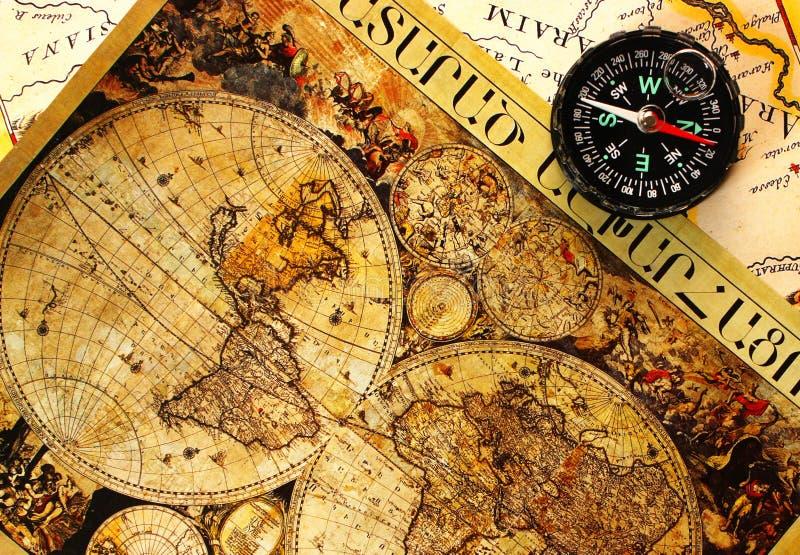 gammal paper värld för översikt royaltyfri bild