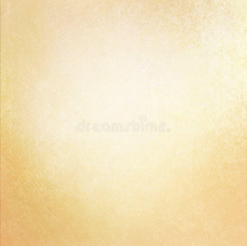 Gammal pappers- bakgrund för tappning med mjuk guld- färg och skrapad textur