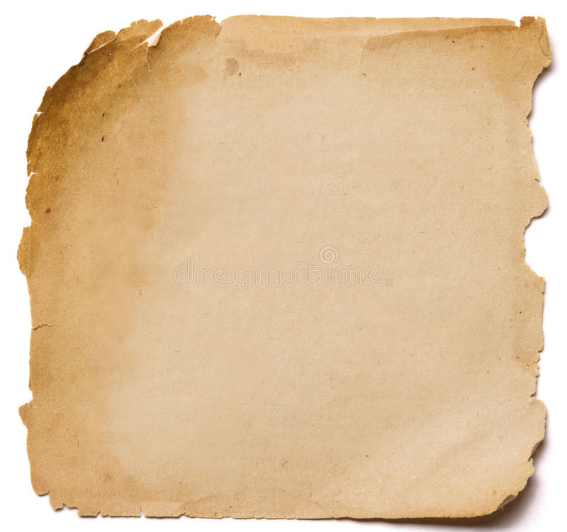 Gammal pappers- grungetextur, tomma Yellow Page som isoleras på vita lodisar royaltyfri foto