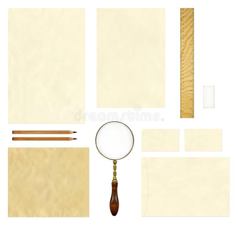 Gammal pappers- mallåtlöje upp arkivbilder