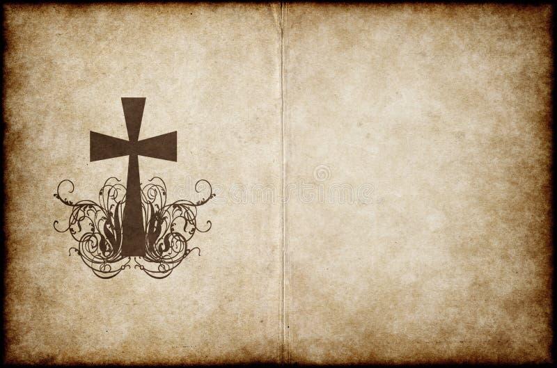 gammal parchment för kors vektor illustrationer
