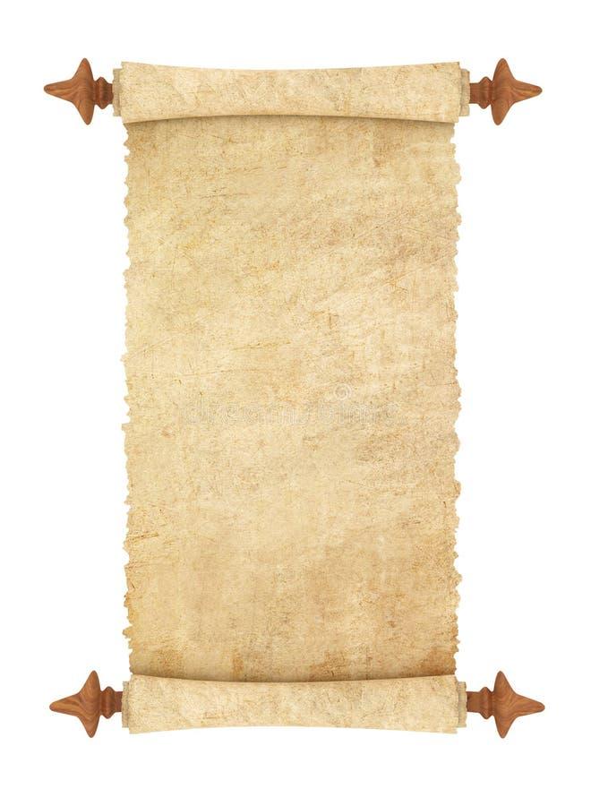 gammal parchmentscroll stock illustrationer