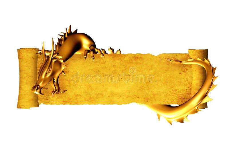 gammal parchmentscroll för drake