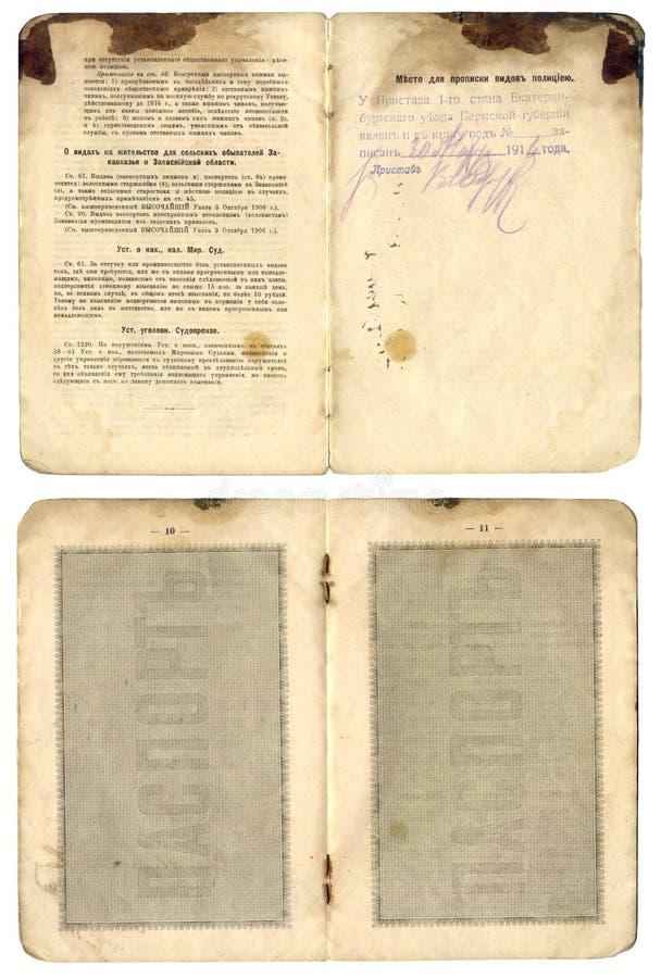 gammal pasportrysstappning fotografering för bildbyråer
