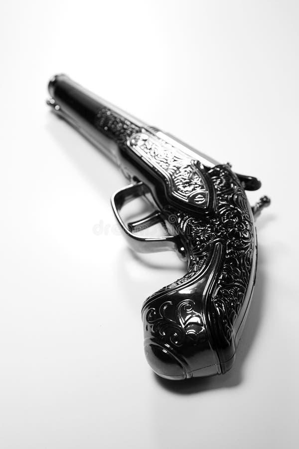 Gammal pistol fotografering för bildbyråer
