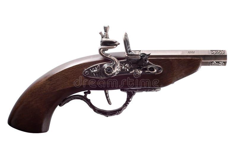 gammal pistol för flintlock arkivfoton