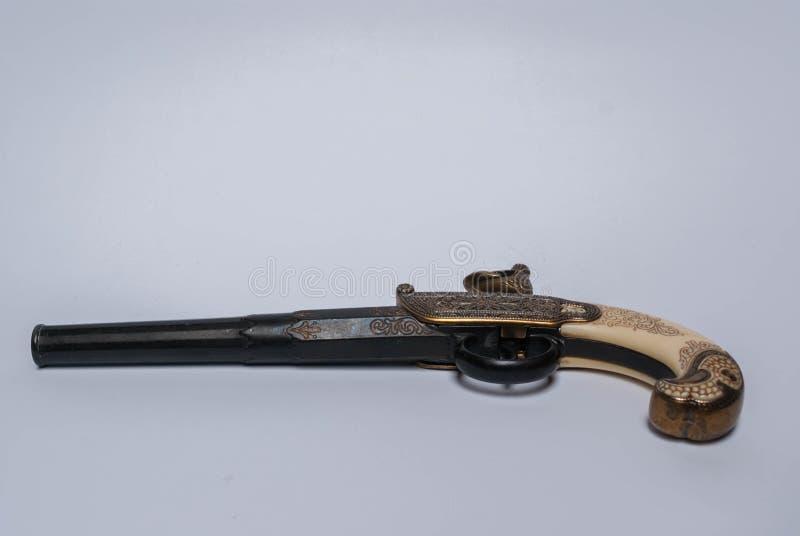 Gammal pistol för Napoleon ` s arkivbilder