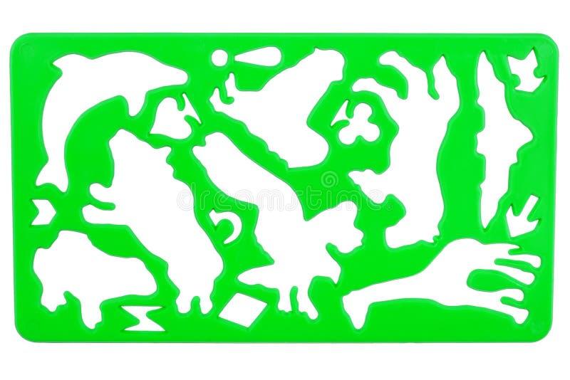 Gammal plastic stencil fotografering för bildbyråer