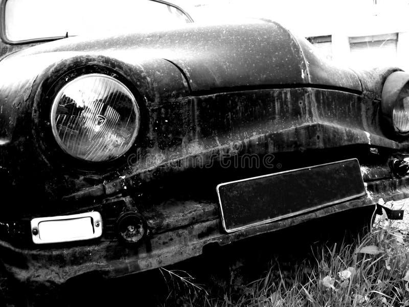 gammal platta för blank bil arkivbild