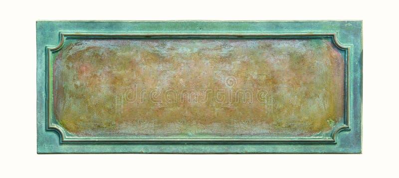 gammal platta för metall arkivbild